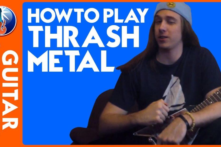 Rhythm Guitar Lesson - Thrash Metal Guitar Riffs with Down Picking Technique