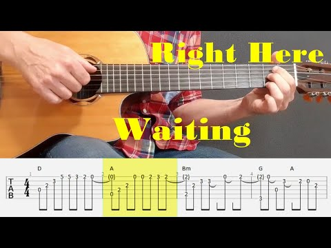 Right Here Waiting - Richard Marx - Fingerstyle Guitar Tutorial Tab