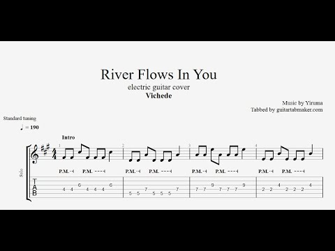River Flows In You TAB - electric guitar tabs (PDF + Guitar Pro)