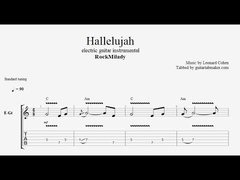 RockMilady - Hallelujah TAB - instrumental electric guitar tab (PDF + Guitar Pro)