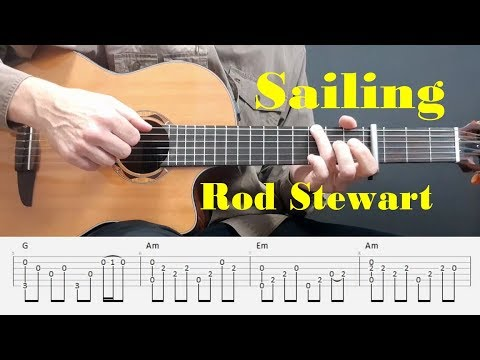 Sailing - Rod Stewart - Easy Fingerstyle guitar with tabs