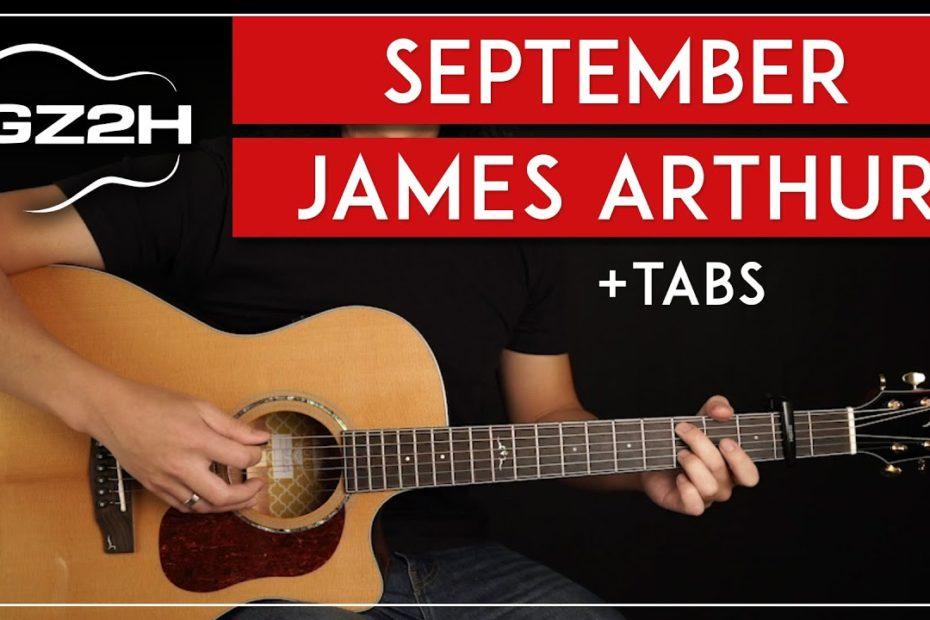 September Guitar Tutorial James Arthur Guitar Lesson  Easy Chords 