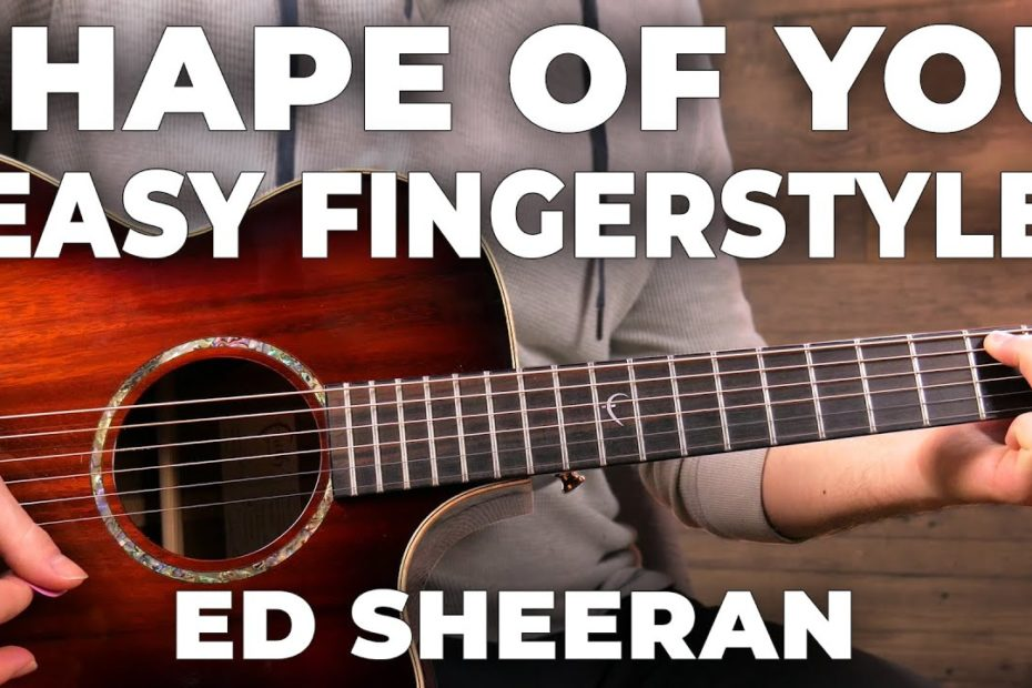 Shape Of You COVER + Easy Fingerstyle Guitar LESSON (Ed Sheeran)