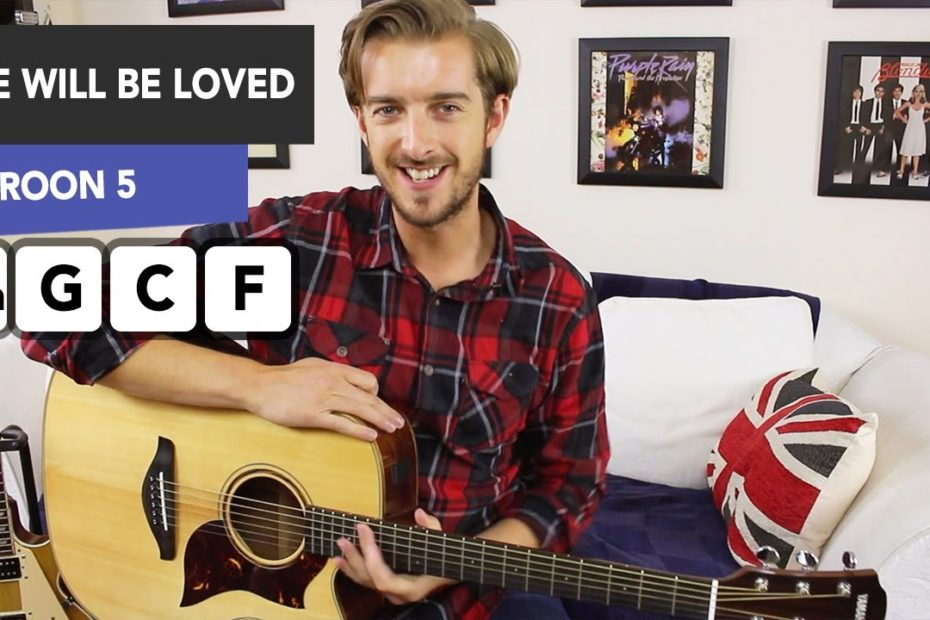She Will be Loved Guitar Tutorial - Maroon 5 - EASY Acoustic Songs