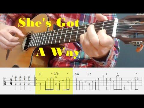 She's Got A Way - Billy Joel - Fingerstyle Guitar Tutorial Tab