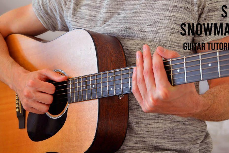 Sia - Snowman EASY Guitar Tutorial With Chords / Lyrics