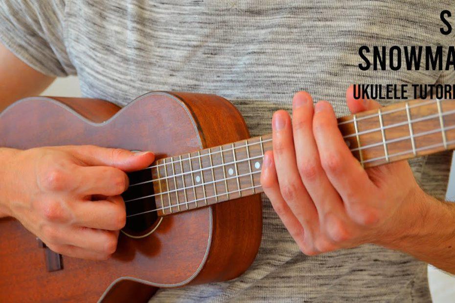 Sia - Snowman EASY Ukulele Tutorial With Chords / Lyrics
