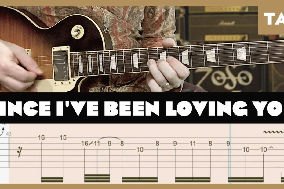 Since I've Been Loving You Led Zeppelin Cover   Guitar Tab   Lesson   Tutorial