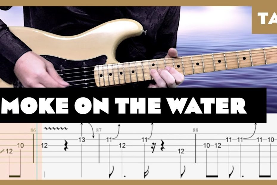 Smoke on the Water Deep Purple Cover   Guitar Tab   Lesson   Tutorial