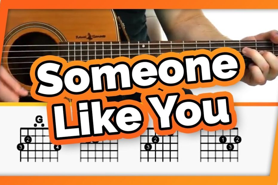 Someone Like You Guitar Tutorial (Adele) Easy Chords Guitar Lesson