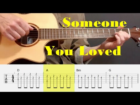 Someone You Loved - Lewis Capaldi - Fingerstyle Guitar Tutorial Tab