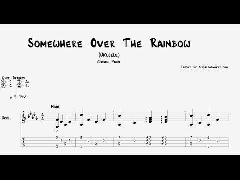Somewhere Over The Rainbow ukulele TAB - fingerstyle ukulele tab - PDF - Guitar Pro