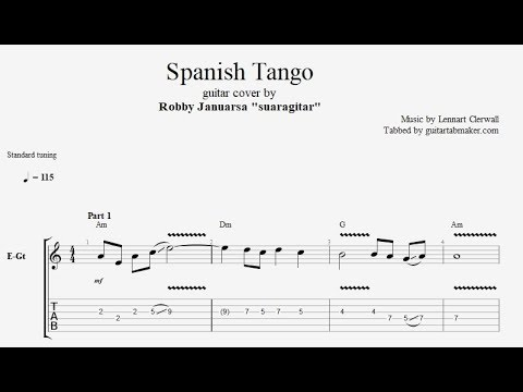 Spanish Tango TAB - guitar instrumental tab - PDF - Guitar Pro