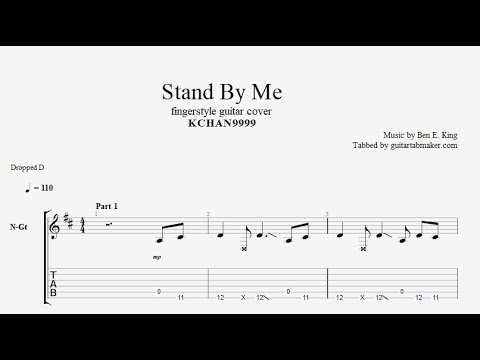 Stand By Me TAB - fingerstyle guitar tabs (PDF + Guitar Pro)