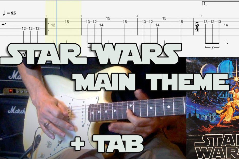 Star Wars Main Theme - Electric Guitar Cover + TAB