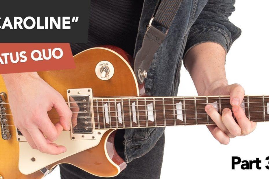 Status Quo - Caroline Guitar Lesson Tutorial #3 Lead Part