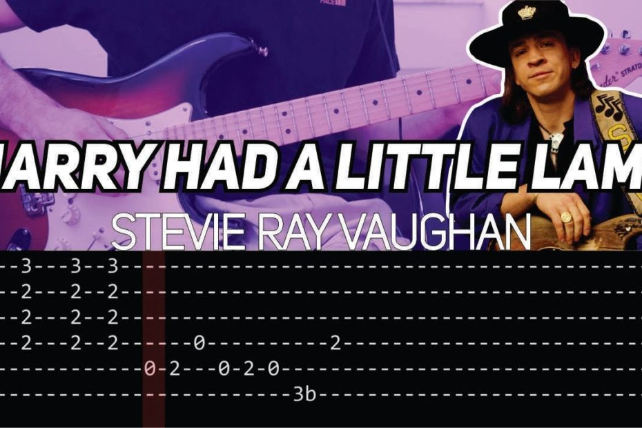 Stevie Ray Vaughan - Mary had a little lamb (Guitar lesson with TAB)