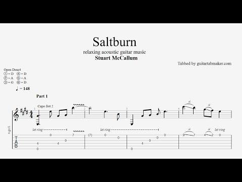 Stuart McCallum - Saltburn TAB - relaxing acoustic guitar tabs (PDF + Guitar Pro)
