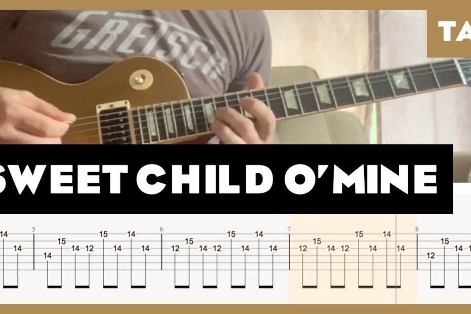 Sweet Child O' Mine Guns N' Roses Cover | Guitar Tab | Lesson | Tutorial