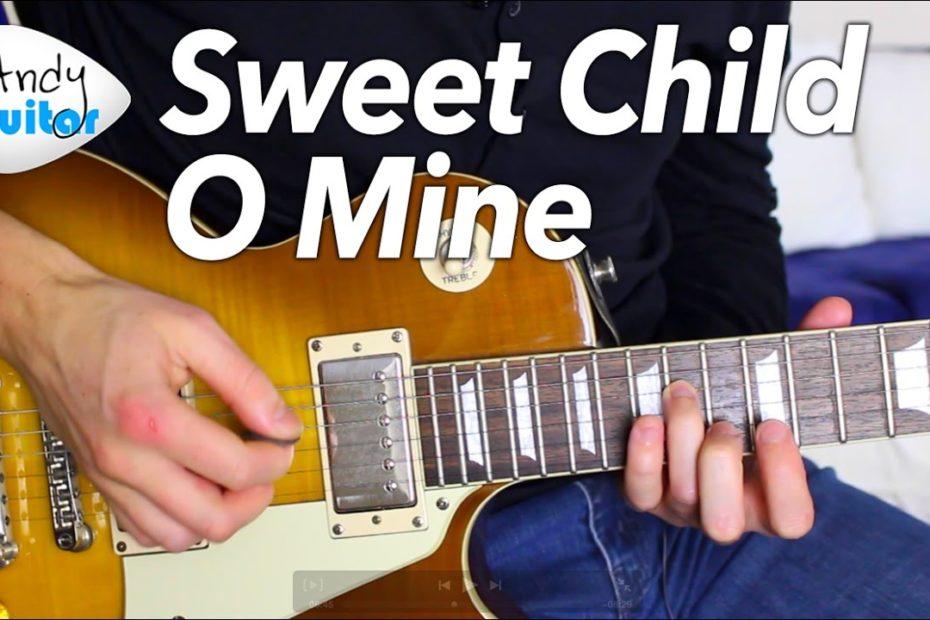 Sweet Child O Mine INTRO Guitar Lesson Tutorial - Guns N Roses Slash