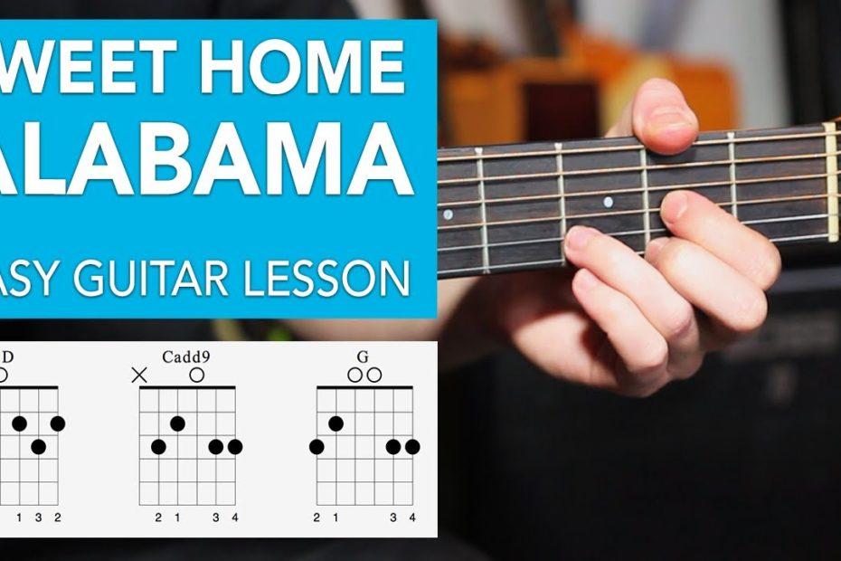 Sweet Home Alabama - Acoustic EASY 3 Chord Lesson - Lynyrd Skynyrd