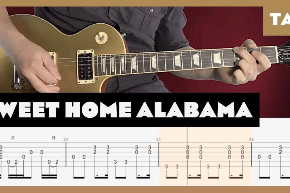 Sweet Home Alabama Lynyrd Skynyrd Cover   Guitar Tab   Lesson   Tutorial