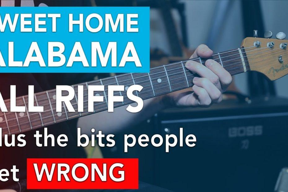 Sweet Home Alabama Lynyrd Skynyrd *INTRO* + ALL Riffs // Electric Guitar Lesson