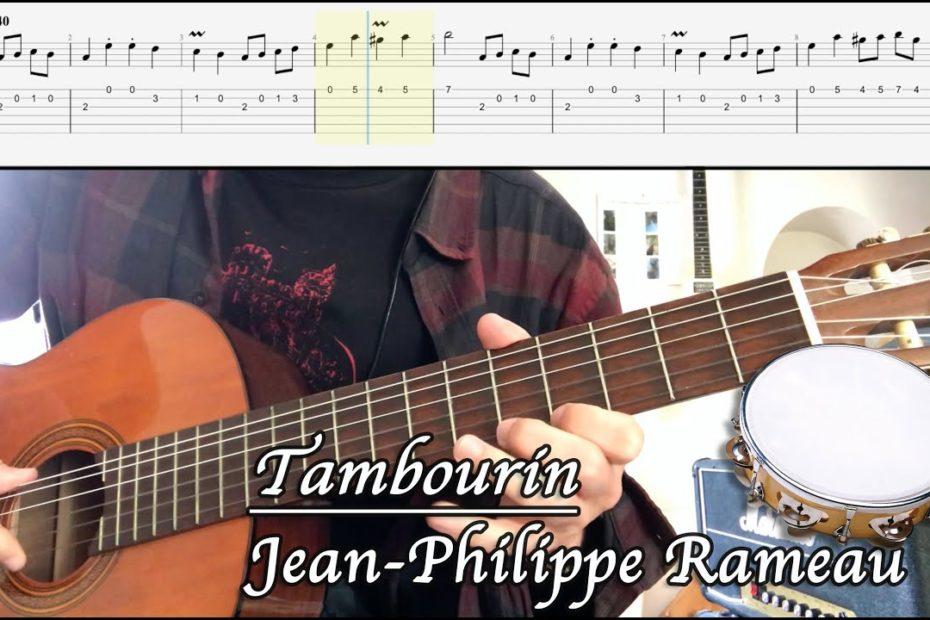 Tambourin - Jean-Philippe Rameau (Cover + TAB)