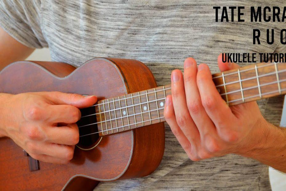 Tate McRae - r u ok EASY Ukulele Tutorial With Chords / Lyrics