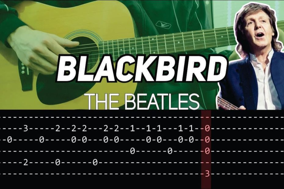 The Beatles - Blackbird (Guitar lesson with TAB)