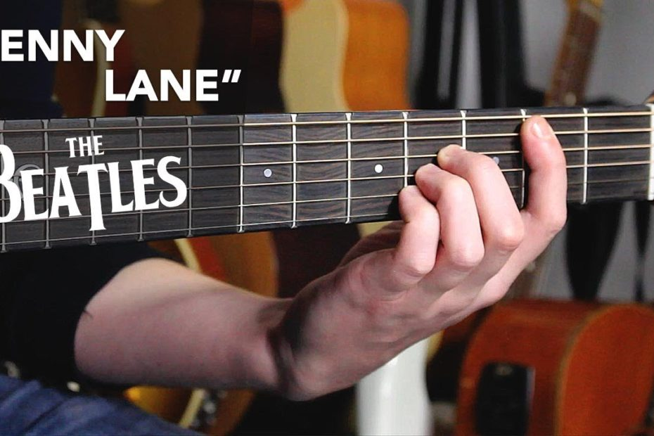"""The Beatles """"PENNY LANE"""" guitar tutorial - how to play with simple chords"""