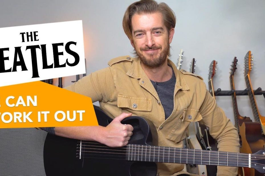 """The Beatles """"We Can Work It Out"""" guitar lesson tutorial - Fun Easy Acoustic Songs"""