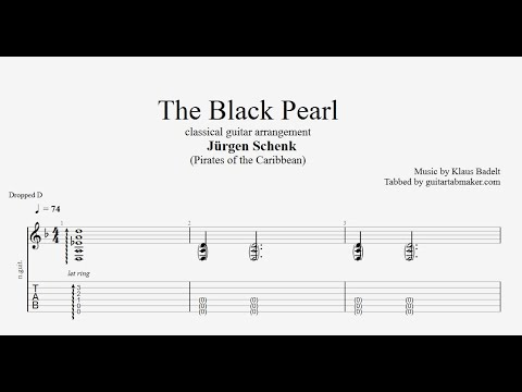 The Black Pearl TAB - fingerstyle classical guitar tabs (PDF + Guitar Pro)