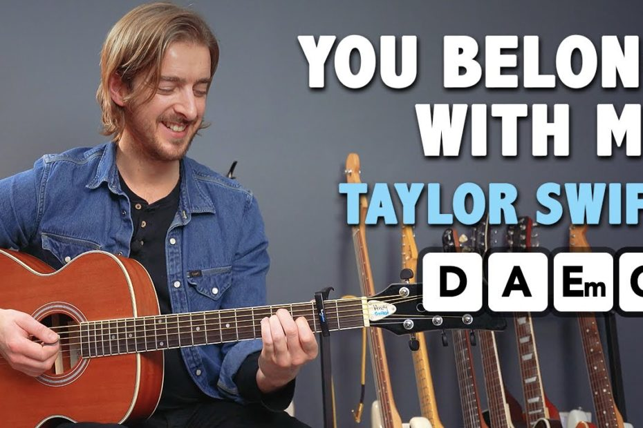 """The EASIEST Taylor Swift Song? """"You Belong With Me"""" Guitar Tutorial"""