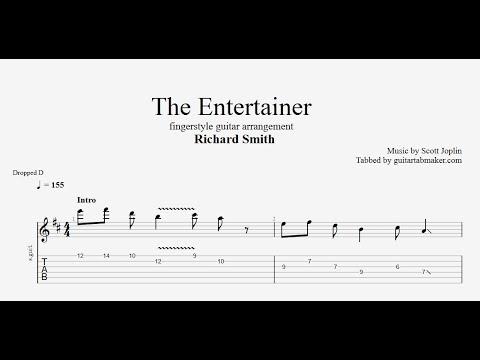 The Entertainer TAB (Richard Smith) fingerstyle guitar tabs (PDF + Guitar Pro)