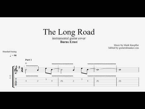 The Long Road TAB - vintage instrumental guitar tabs (PDF + Guitar Pro)