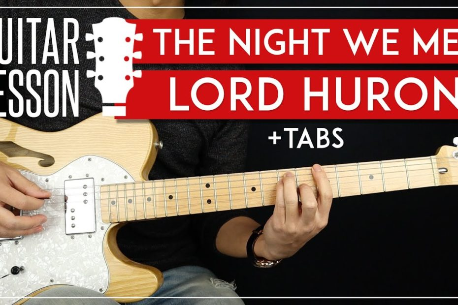The Night We Met Guitar Tutorial   Lord Huron Guitar Lesson |Easy Chords + Picking + TAB|