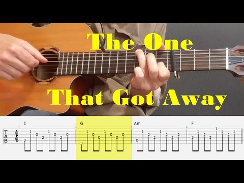 The One That Got Away - Katy Perry - Easy Fingerstyle Guitar Tutorial Tabs