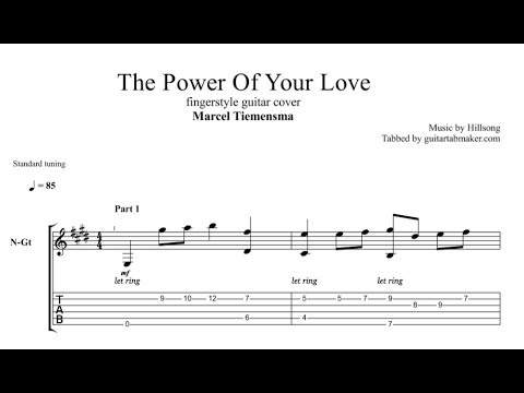 The Power Of Your Love TAB - acoustic fingerstyle guitar tab (PDF + Guitar Pro)