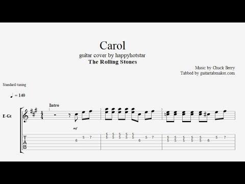 The Rolling Stones - Carol TAB - electric guitar tab - PDF - Guitar Pro