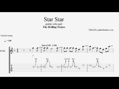 The Rolling Stones - Star Star solo TAB - guitar solo tab - PDF - Guitar Pro