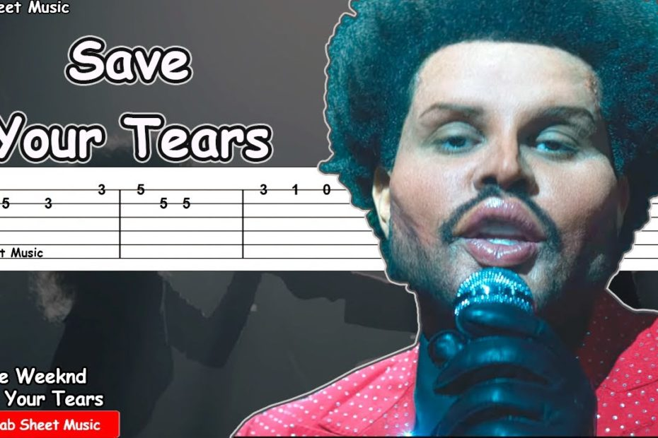 The Weeknd - Save Your Tears Guitar Tutorial | TAB