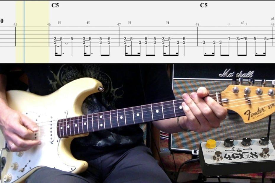 The Wellerman + TAB (Brian May Version - Guitar Tutorial)