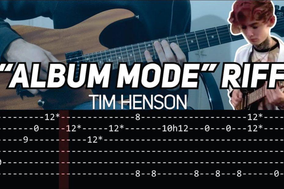 Tim Henson (Polyphia) - Album 4 Teaser / Album mode Riff (slow with TAB)