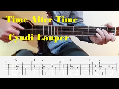 Time After Time - Cyndi Lauper - Fingerstyle guitar with tabs
