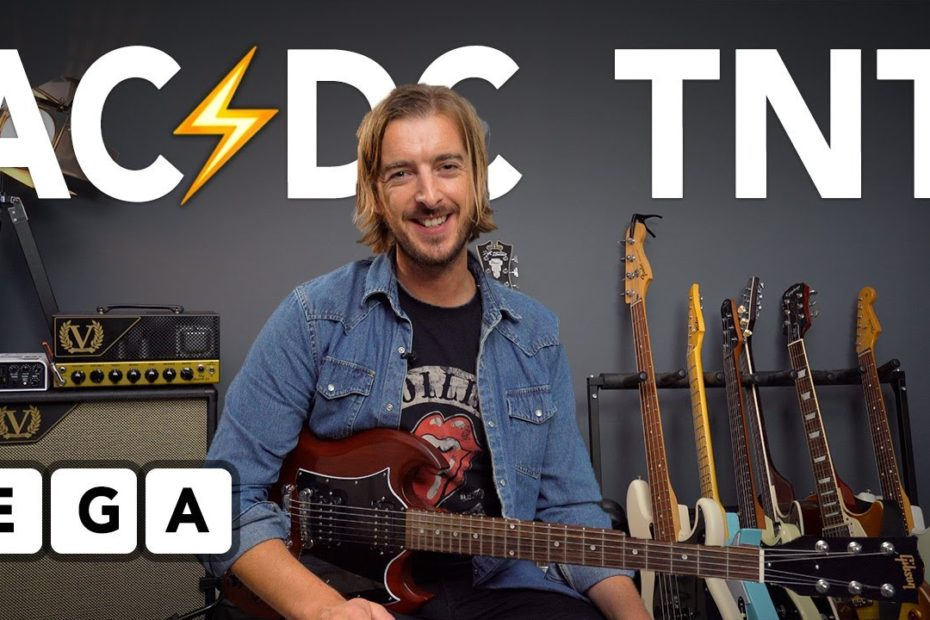 """""""TNT"""" - THE EASIEST AC/DC RIFF? (Guitar Lesson + Tutorial)"""