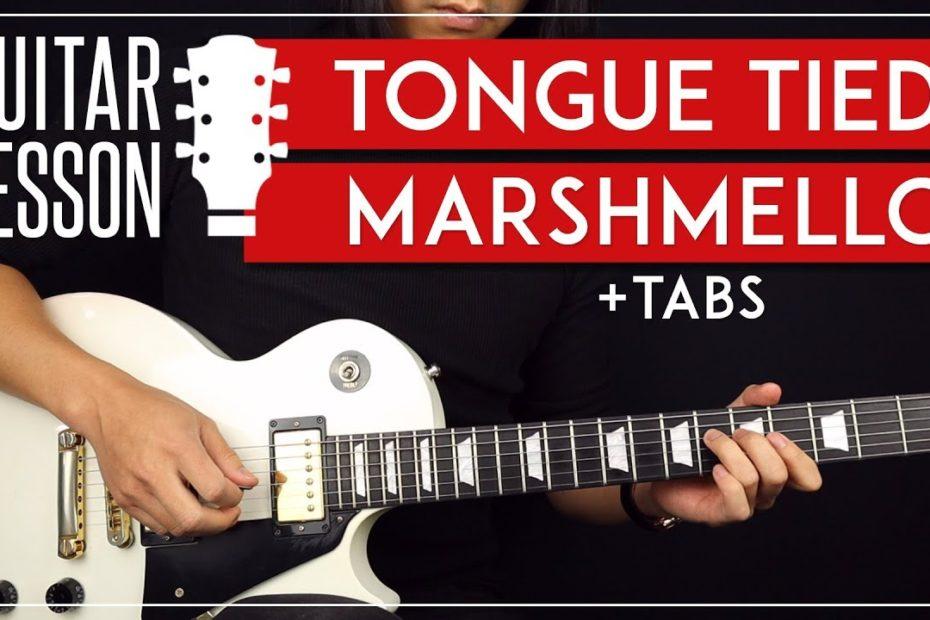 Tongue Tied Guitar Tutorial   Marshmello YUNGBLUD Guitar Lesson |Easy Chords + TAB|