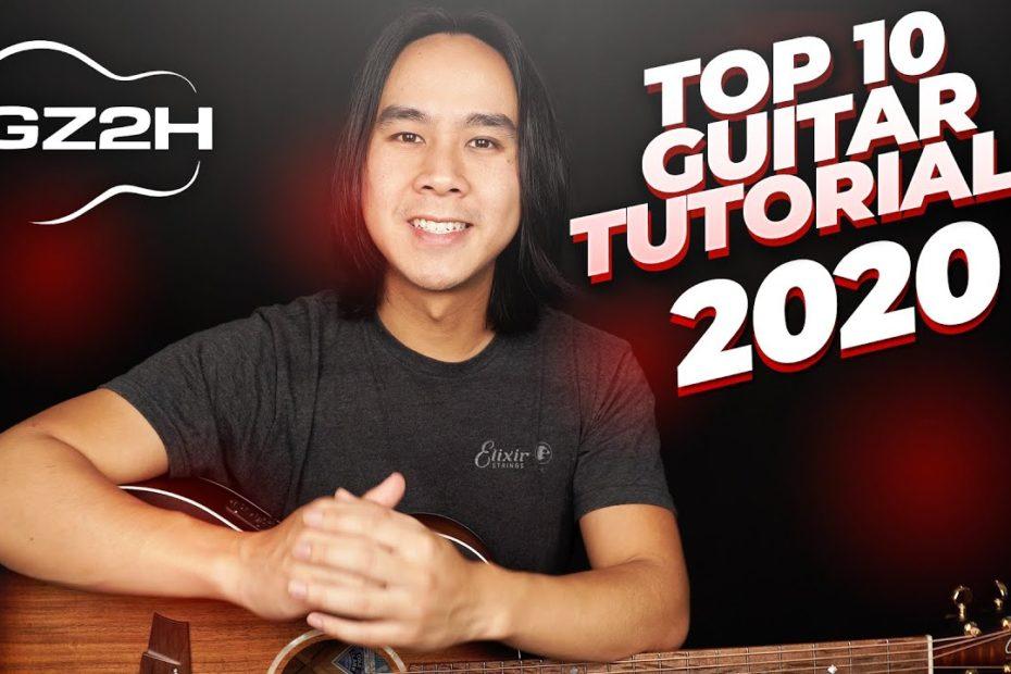 Top 10 Guitar Tutorials of 2020 - GuitarZero2Hero Countdown
