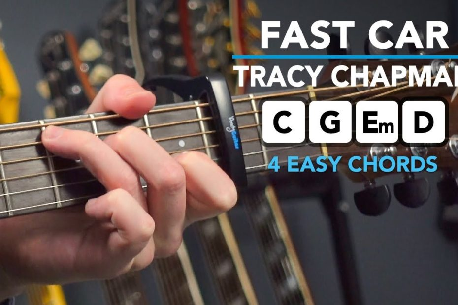 Tracy Chapman 'Fast Car' - Simple Chords Only Guitar Tutorial