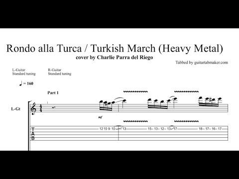 Turkish March TAB - electric guitar solo tab - PDF - Guitar Pro
